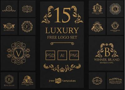 Share 15 PSD Logo Vàng Sang Trọng