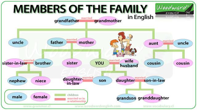 Resultado de imagen de the family vocabulary for kids