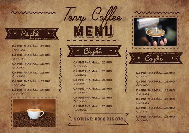 Download mẫu menu cafe file AI đẹp
