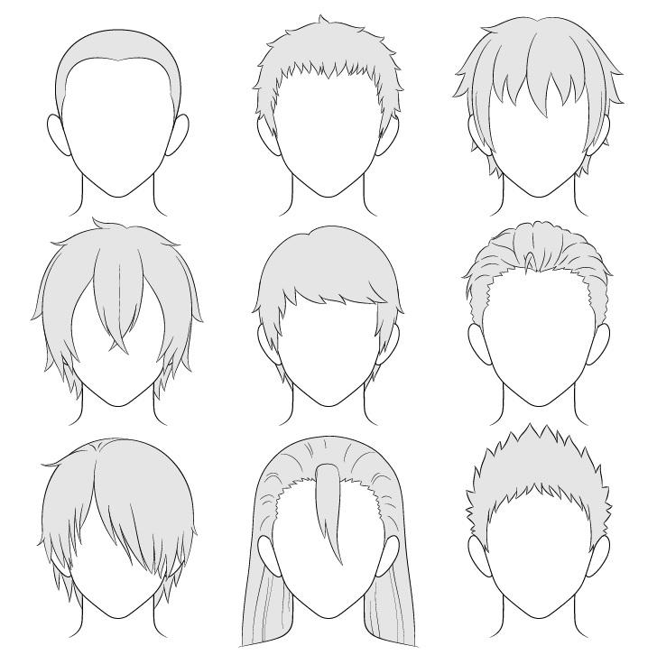 Gambar gaya rambut pria anime