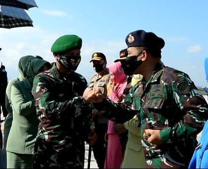 Danlanal Mataram sambut kedatangan Pangdam IX/Udayana.