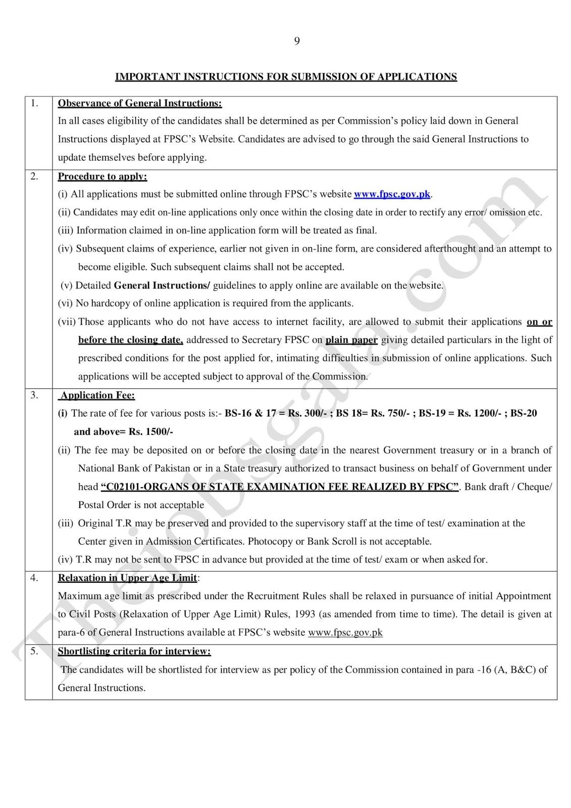 FPSC Teaching-Male, Female, Secondary School Teacher )BPS-17