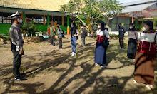 Sasar Pelajar, Satlantas Polres Sidrap Sosialisasikan Prokes Covid-19