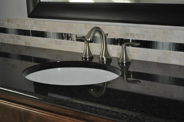 Granite Bathroom Countertops - Black Pearl Modern Design