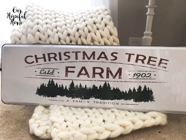 galvanized Christmas Tree Farm wall sign