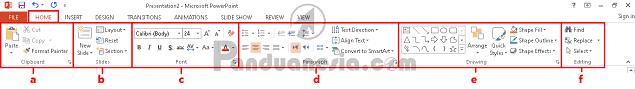 Fungsi Icon Microsoft Powerpoint
