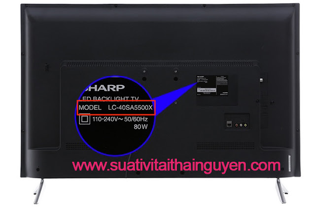 kiểm tra model của tivi Sharp là gì