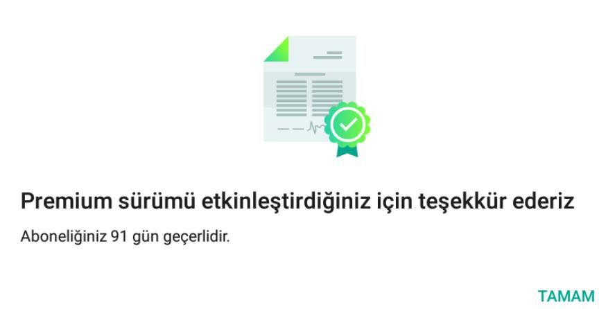 Kaspersky Mobile Antivirus Premium Sürümü 3 Aylık Ücretsiz Etkinleştirme Anahtarı