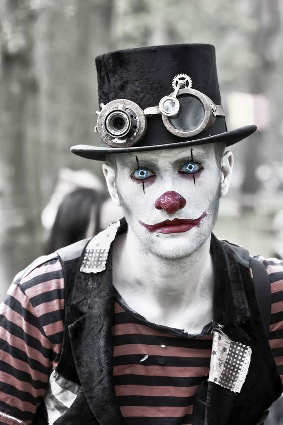 maquiagem masculina para halloween palhaco