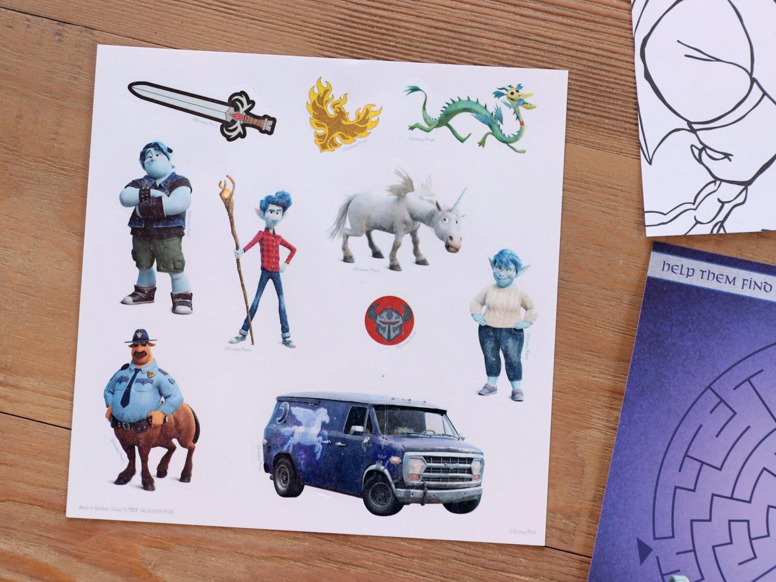 Pixar Onward Disney Store Event Activity Set