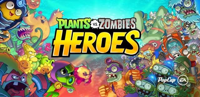 تحميل لعبة Plants vs Zombies Heroes مهكرة للاندرويد