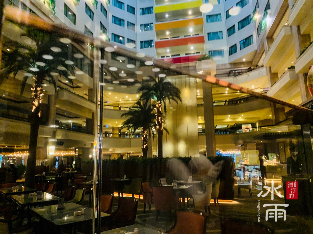 福華大飯店|電梯內看外面
