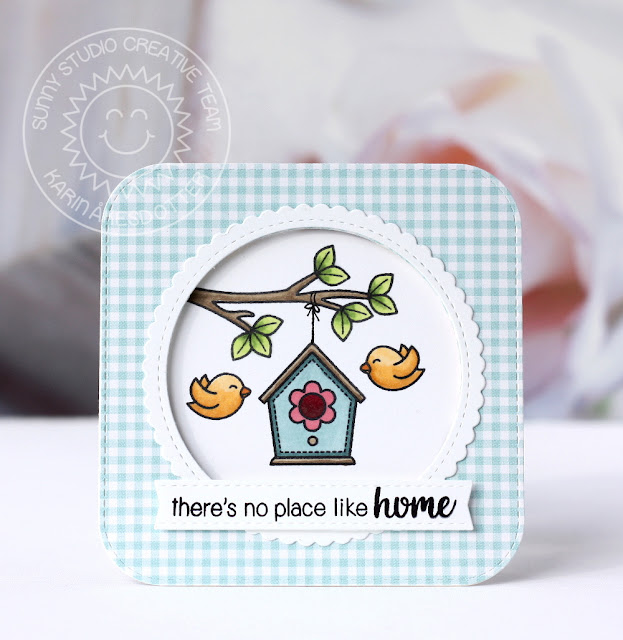 Sunny Studio Stamps: A Bird's Life New Home Card by Karin Åkesdotter
