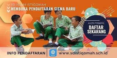 Pendaftaran Siswa Baru SD Islam Istiqomah Tahun 2021