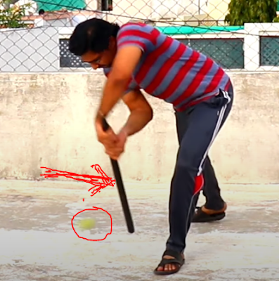 Batting Ptractice With Stump