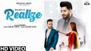 Realize Lyrics Balraj
