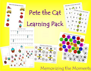 Free Printable Pete the Cat Learning Activities
