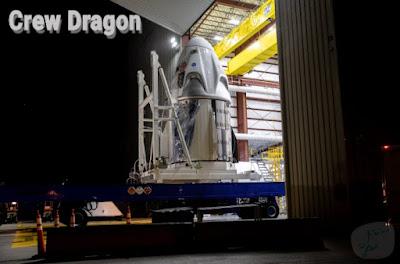 المركبة الفضائية كرو دراغون Crew Dragon تصل مجمع الإطلاق التجريبي لناسا