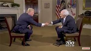 Donald Trump and Pat Robertson