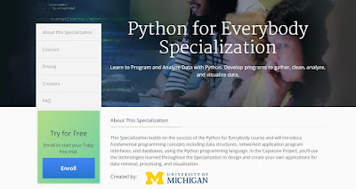 Python for Everybody Coursera free course