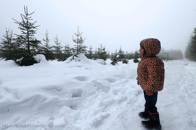 Belgian Ardennes Snow hiking Libramont