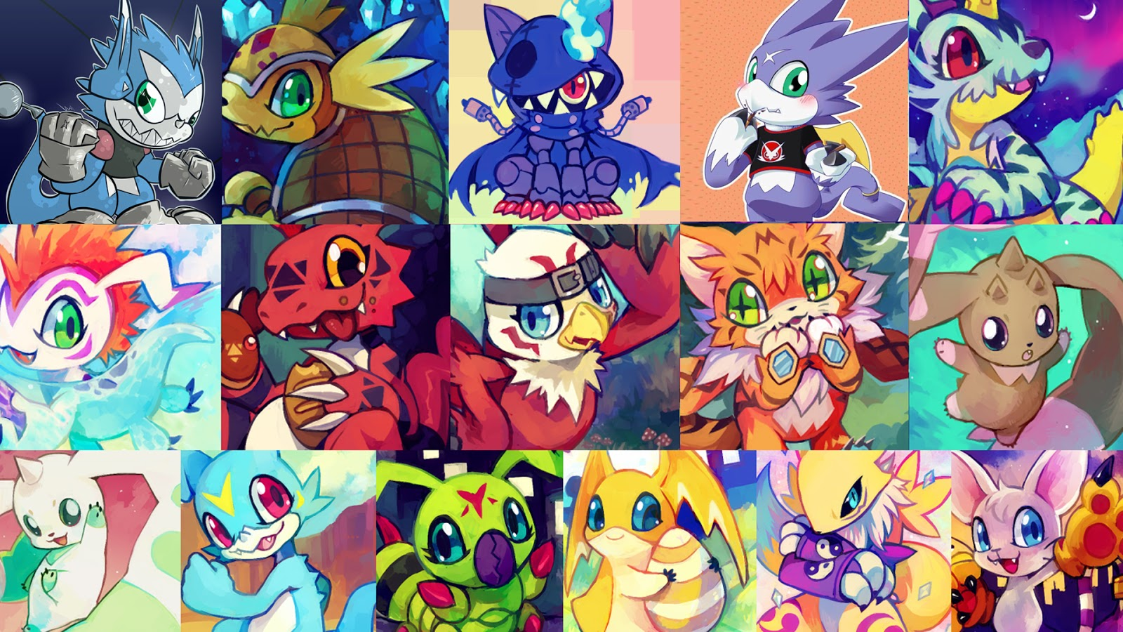Risultati immagini per Digimon Toei Wallpaper Anniversary