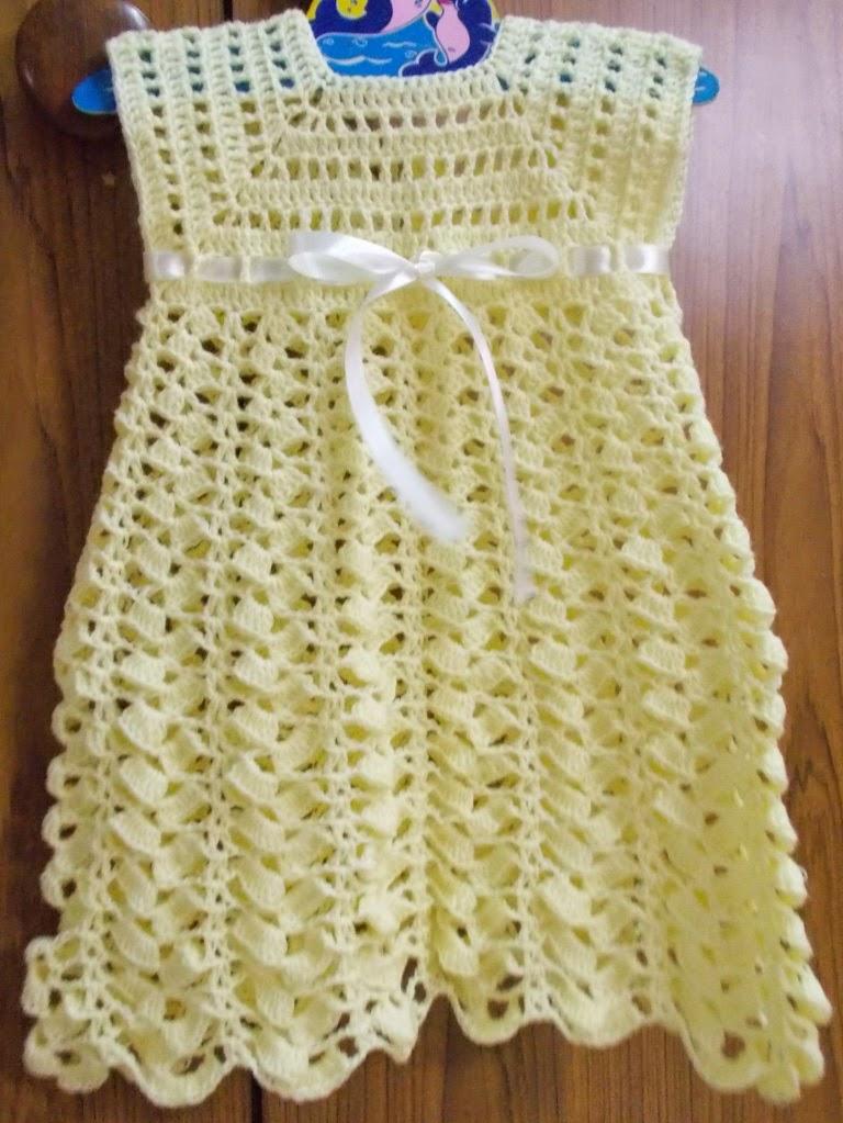 free crochet baby dress, free crochet dress pattern