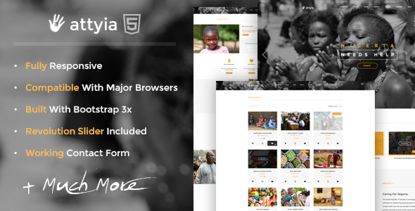 Attyia Creative NGO and Charity WordPress Theme