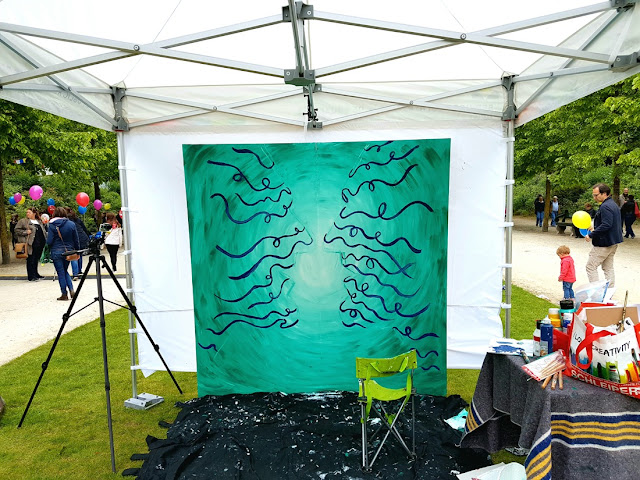 Fete de l'Iris - Peinture - Visages - Flesh and Acrylic - Ben Heine Art - Live Performance -25