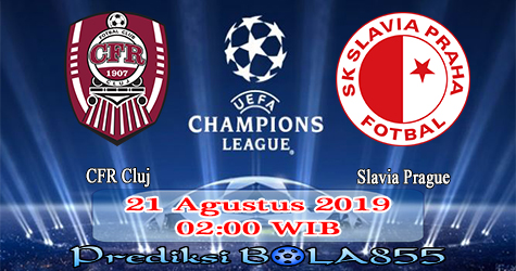 Prediksi Bola855 CFR Cluj vs Slavia Prague 21 Agustus 2019