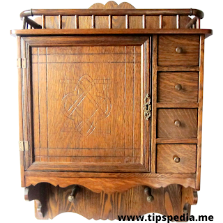 vintage wooden bathroom wall cabinet