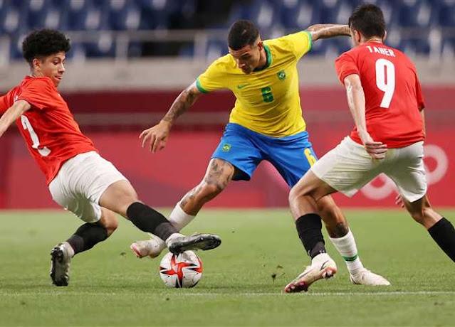 طوكيو 2020 - البرازيل تهزم مصر بهدف نظيف - شاهد ملخص المباراة