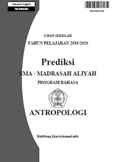 Soal Prediksi Ujian Sekolah (US) Antropologi SMA tahun 2020