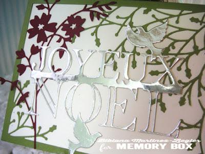 joyeux noel card front detail