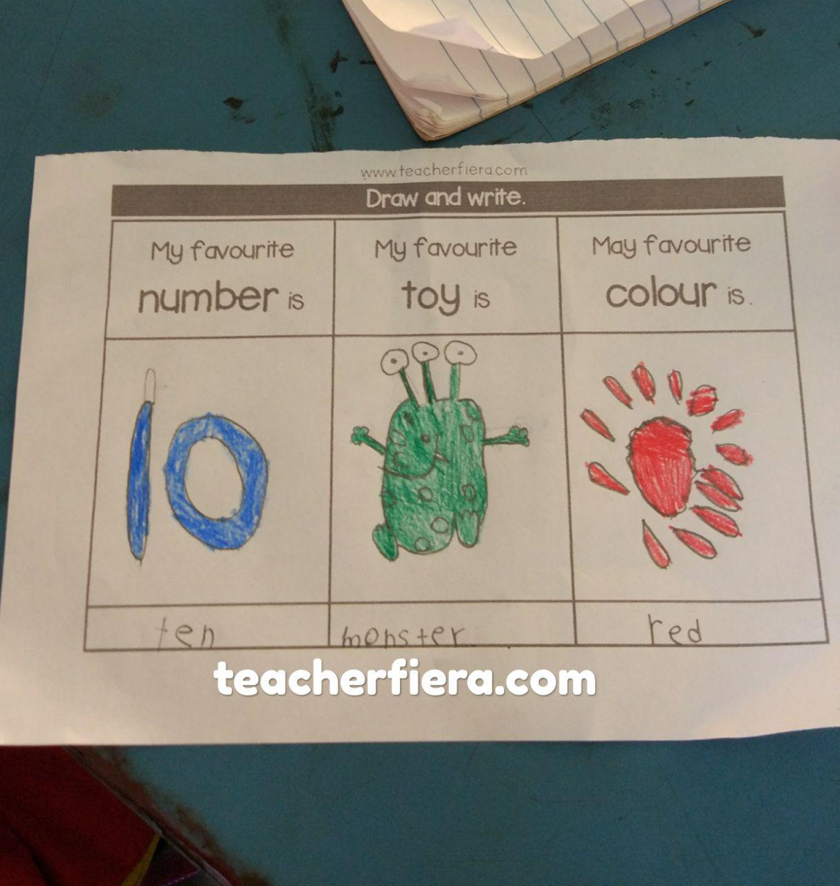 Teacherfiera Easy And Simple Activity For My Linus