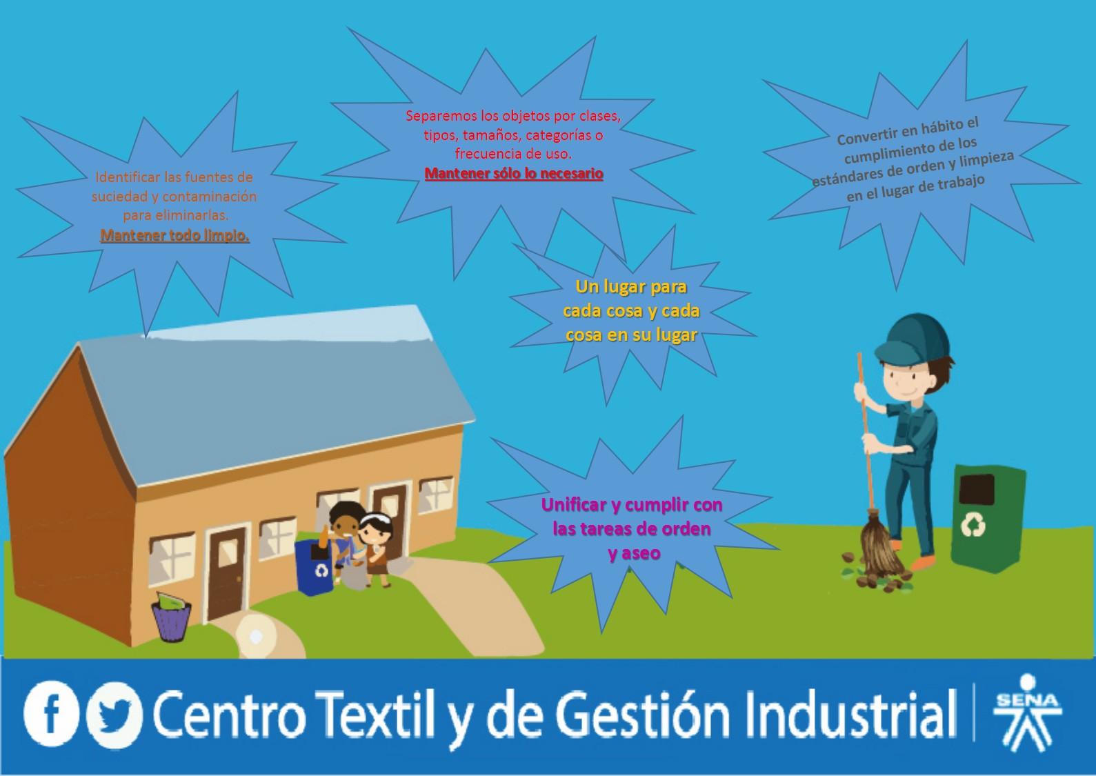 Centro textil y de gestion industrial sena regional for Trabajo para limpiar oficinas