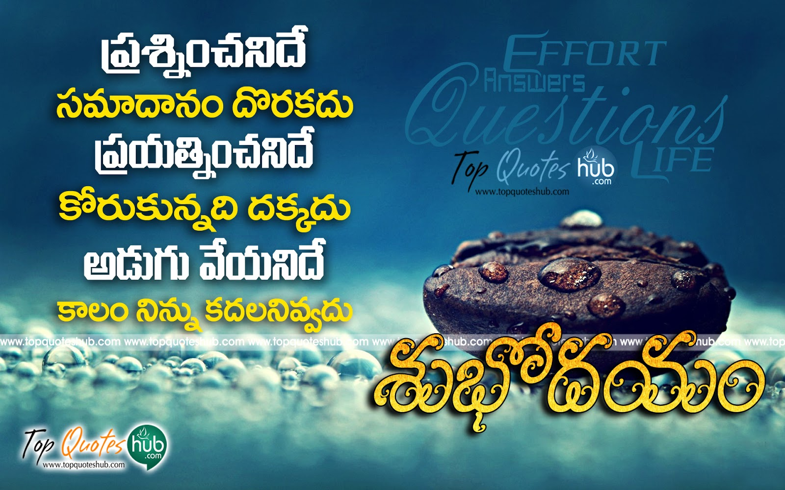 Good morning famous telugu quotes and sayings topquoteshub best good morning telugu greetings quotes wishes about m4hsunfo