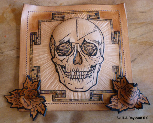 Tattooed Leather Skulls
