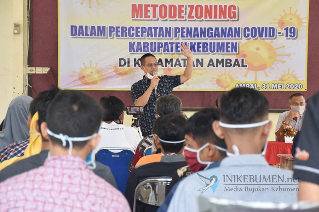 Kades di Kecamatan Ambal Dikenalkan Zonasi Penanggulangan Covid-19 di Kebumen