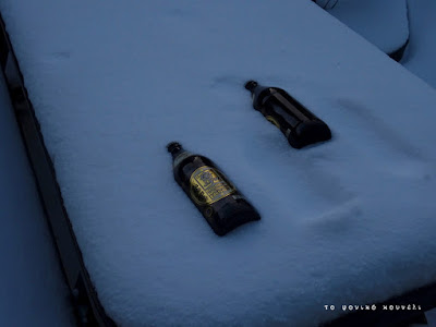 Μπύρες στο χιόνι / Beers in the snow