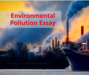 Environmental Pollution Essay in english 150 words