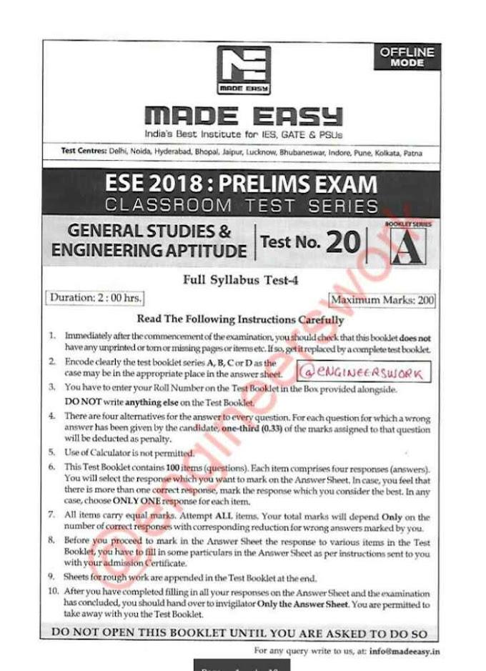 ESE MADE EASY OFFLINE TEST-20