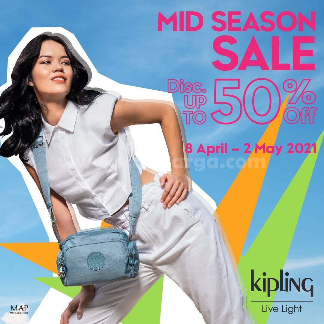 Kipling Promo Mid Season Sale Discount Up To 50% Off