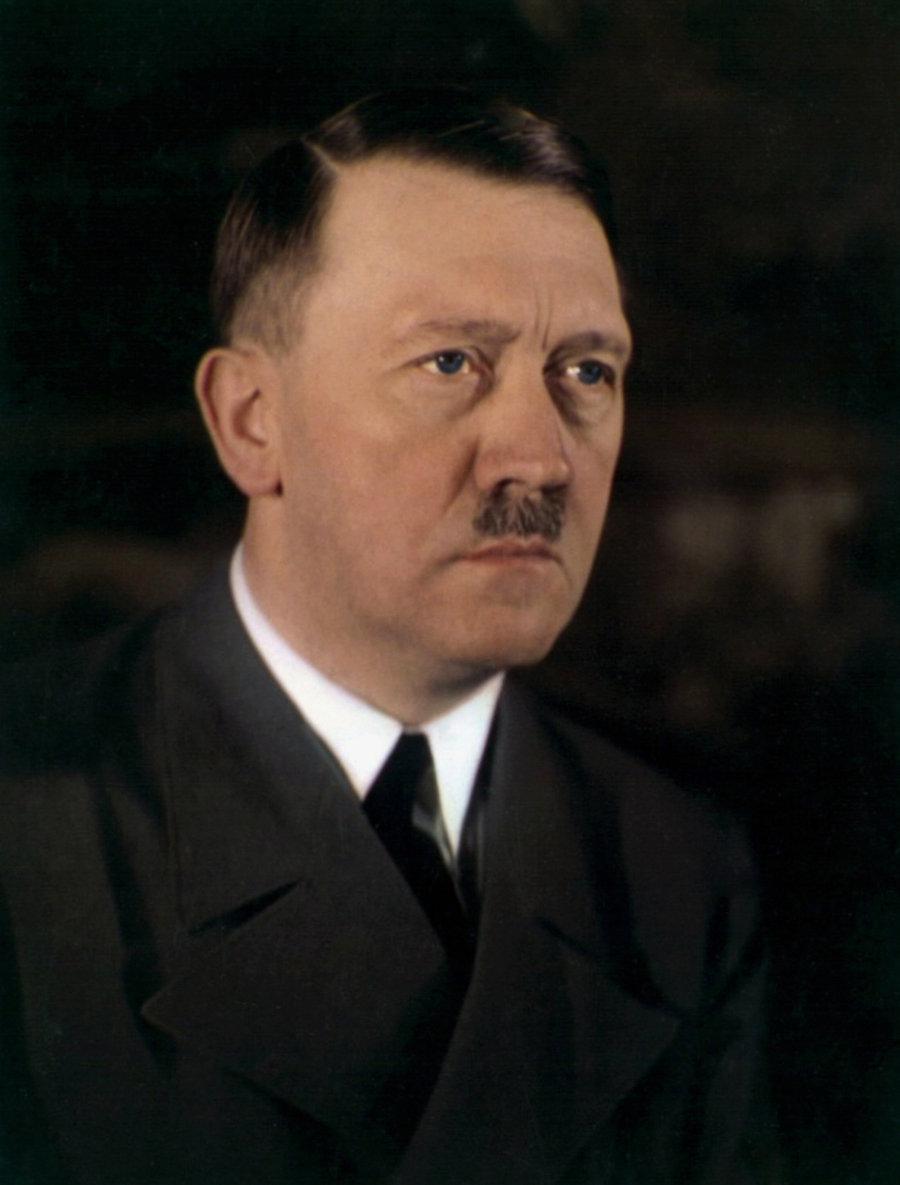 A rare color photo of Adolf Hitler which shows his true eye color.