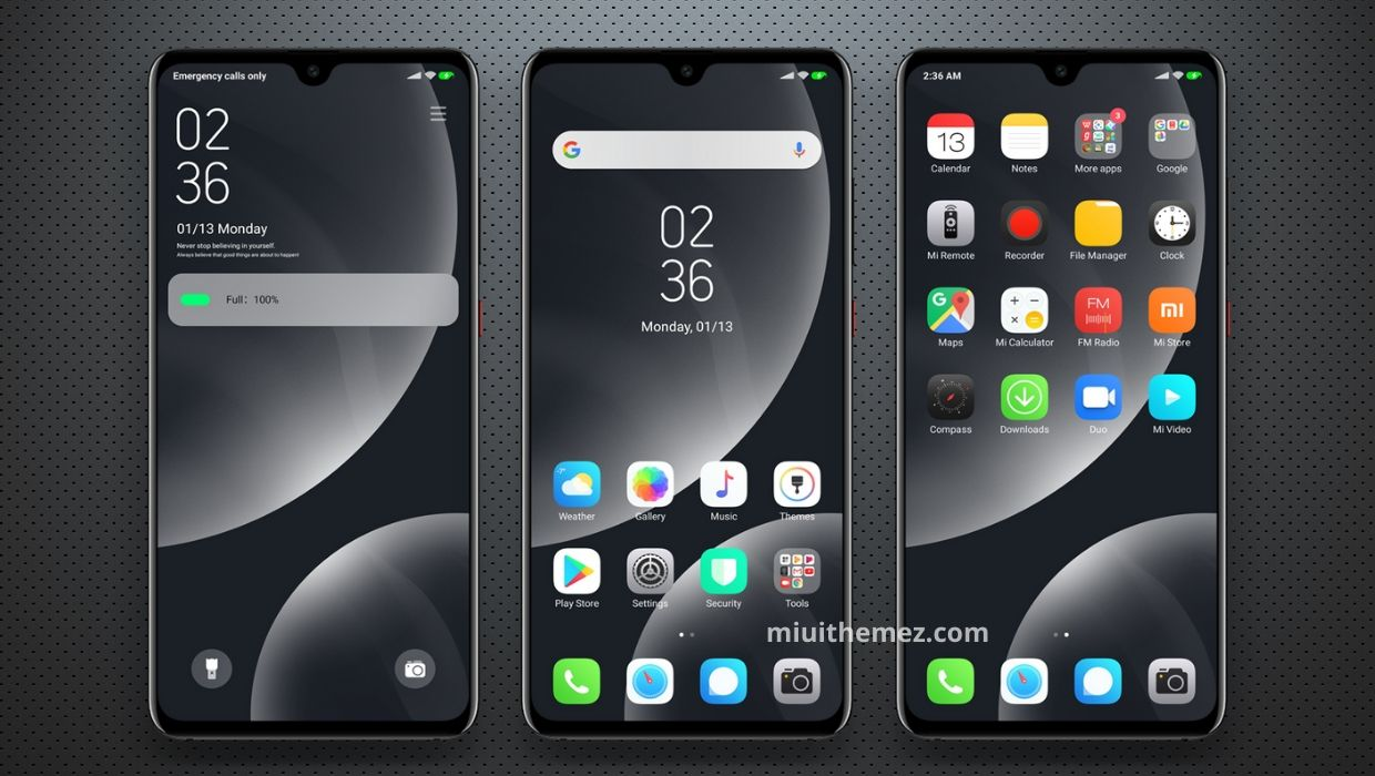Hope MIUI 11 Theme for Dark iOS Experience