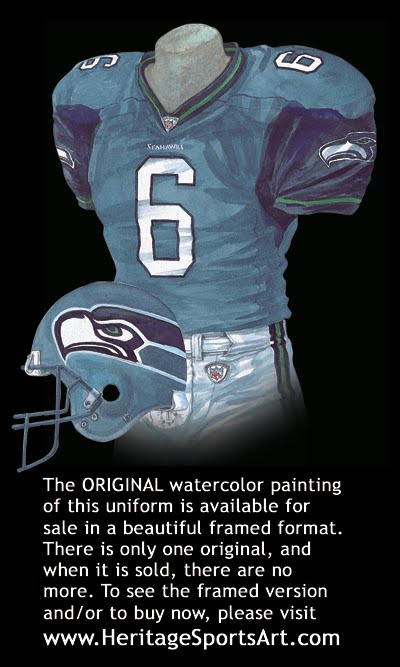 Heritage Uniforms And Jerseys Nfl Mlb Nhl Nba Ncaa Us Colleges Seattle Seahawks Uniform And Team History