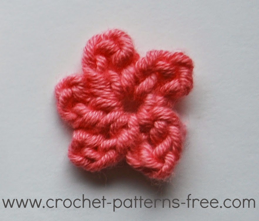 Free Crochet Patterns And Designs By Lisaauch Small Crochet Flower
