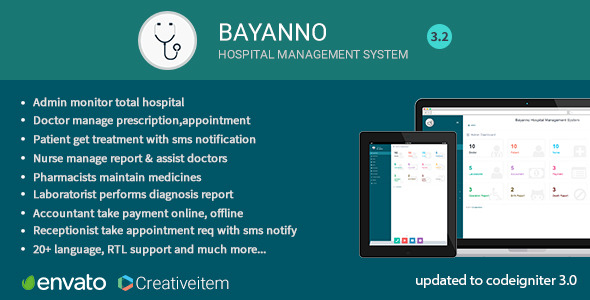 Bayanno v3.2 – Hospital Management System - Codecanyon