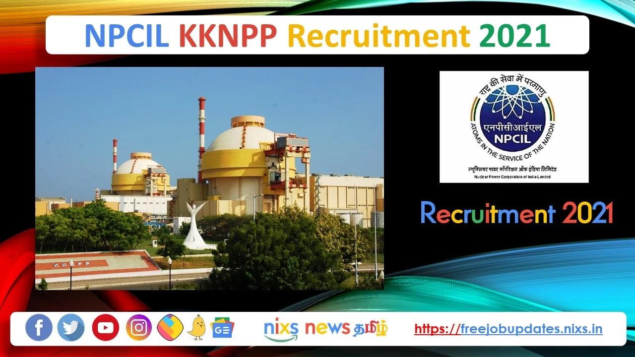 NPCIL KKNPP Recruitment 2021 34 Engineer Posts - Apply Online