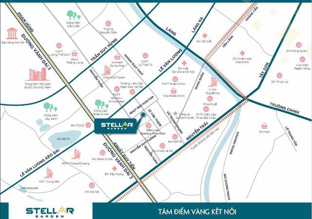 Bản đồ vị trí dự án Stellar Garden